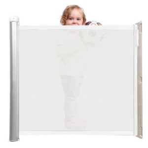 Lascal Kiddy Guard Avant Retractable Child White Mesh Safety Gate