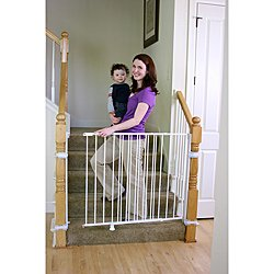 Regalo Extra Tall White Gate