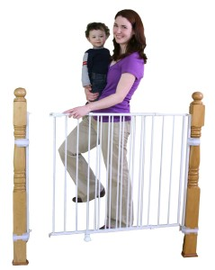 Extra Tall Top of Stair Regalo White Gate