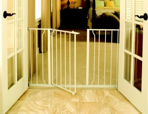 Regalo Easy Open 50 Inch Wide Walk Thru Gate - White